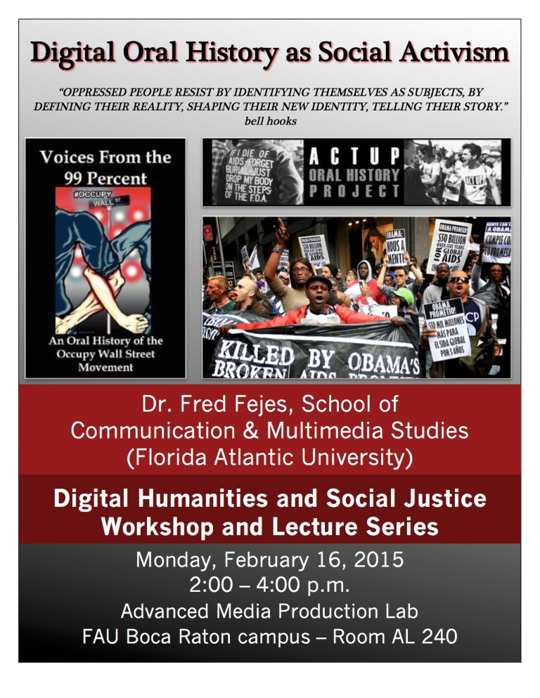 Digital Oral History as Social Activism