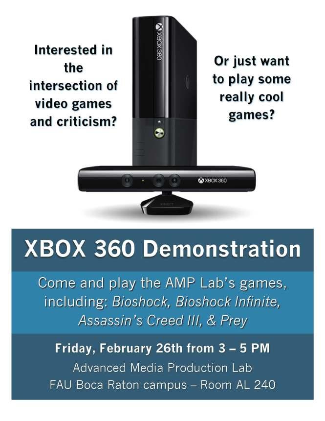 XBOX Demo Flyer
